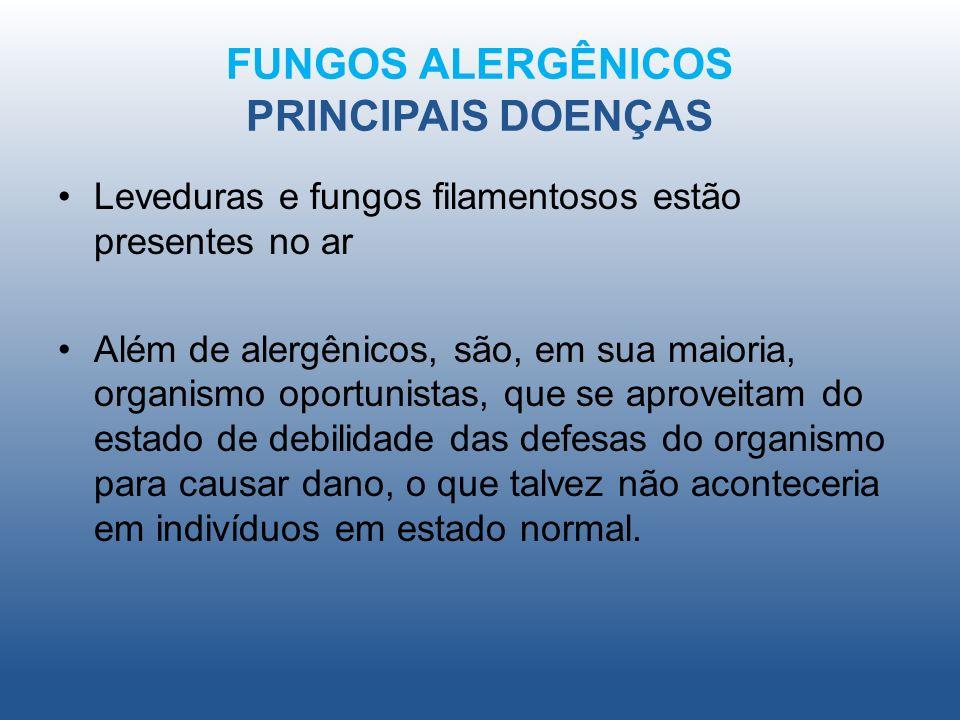 FUNGOS ALERGÊNICOS PRINCIPAIS DOENÇAS