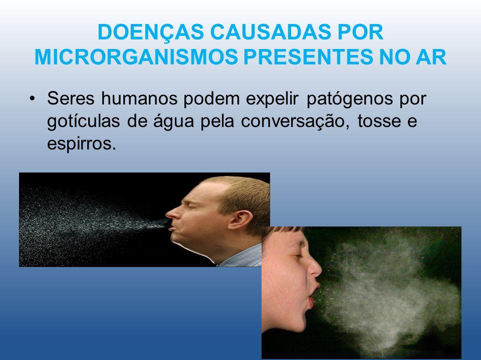 DOENÇAS CAUSADAS POR MICRORGANISMOS PRESENTES NO AR