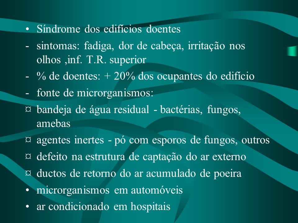 Síndrome dos edifícios doentes
