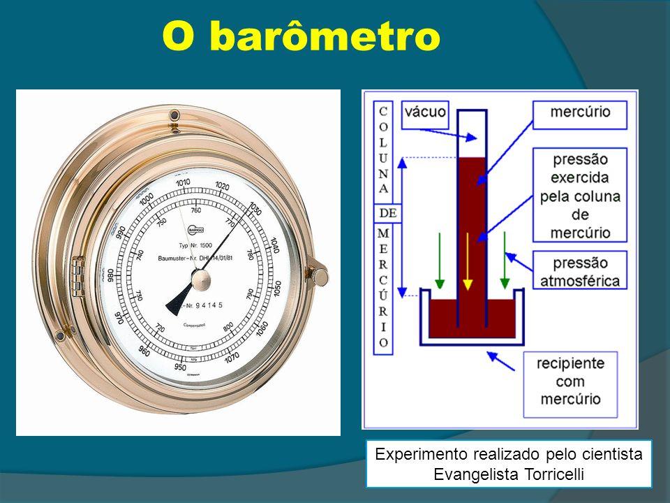 O barômetro Experimento realizado pelo cientista