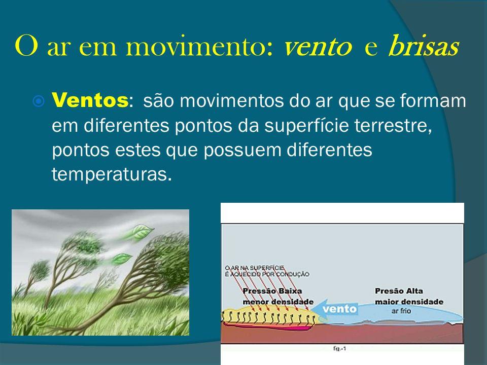 O ar em movimento: vento e brisas