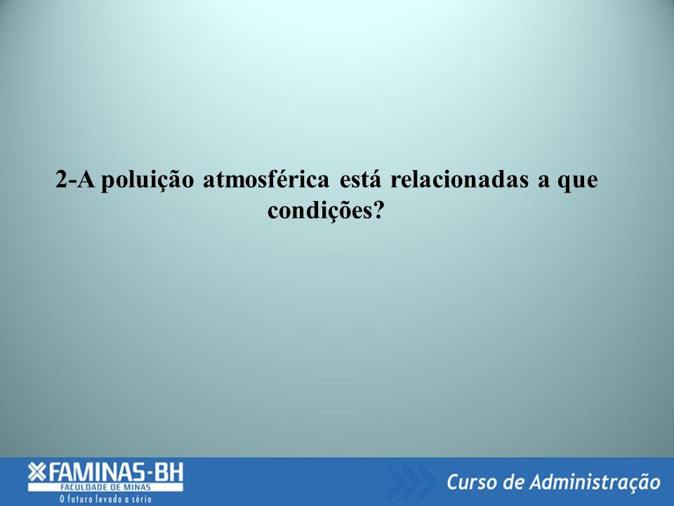2-A poluição atmosférica está relacionadas a que condições