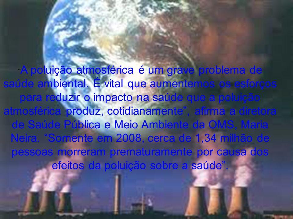 A poluição atmosférica é um grave problema de saúde ambiental