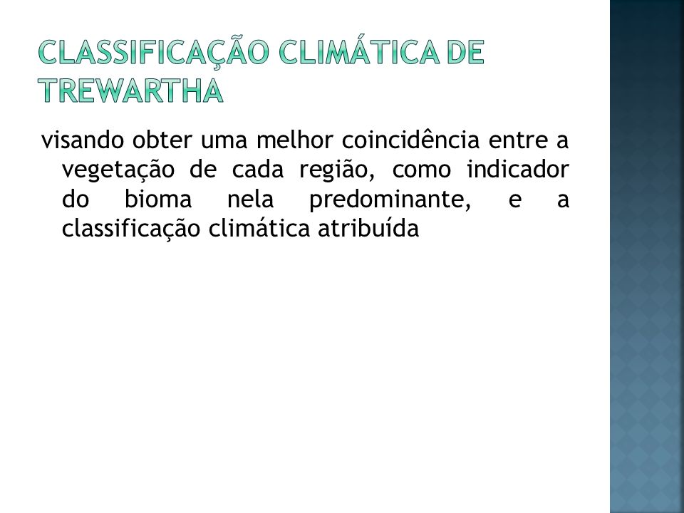 Classificação climática de Trewartha