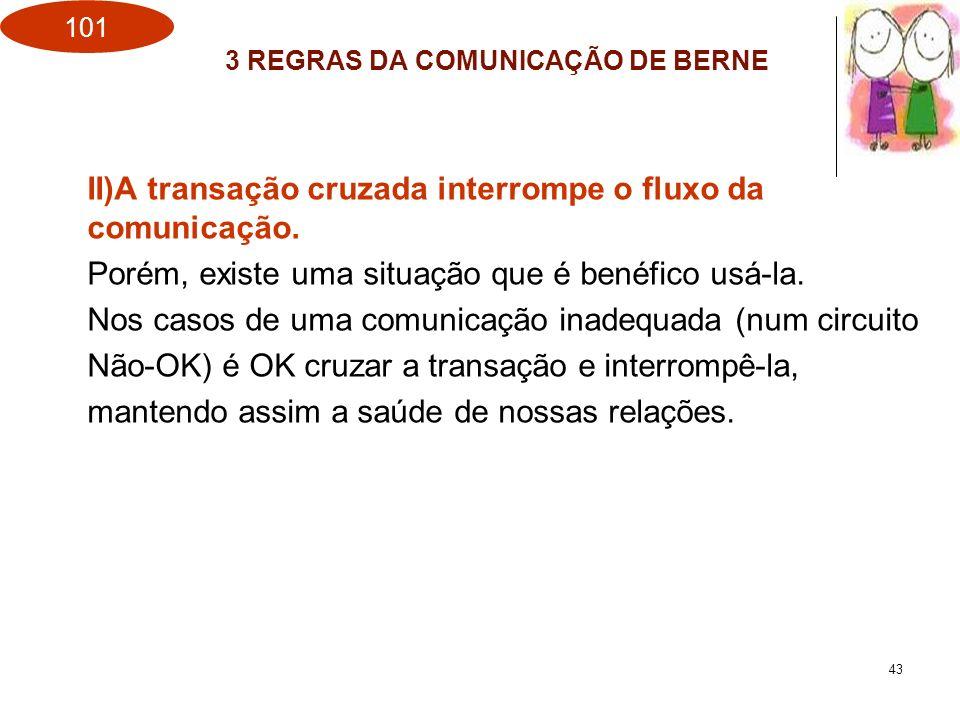 3 REGRAS DA COMUNICAÇÃO DE BERNE