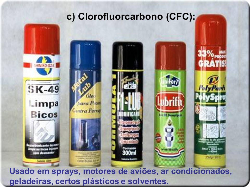 c) Clorofluorcarbono (CFC):