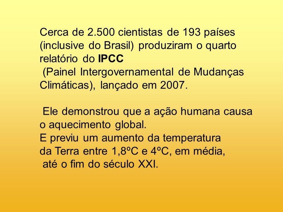 Cerca de 2.500 cientistas de 193 países (inclusive do Brasil) produziram o quarto relatório do IPCC
