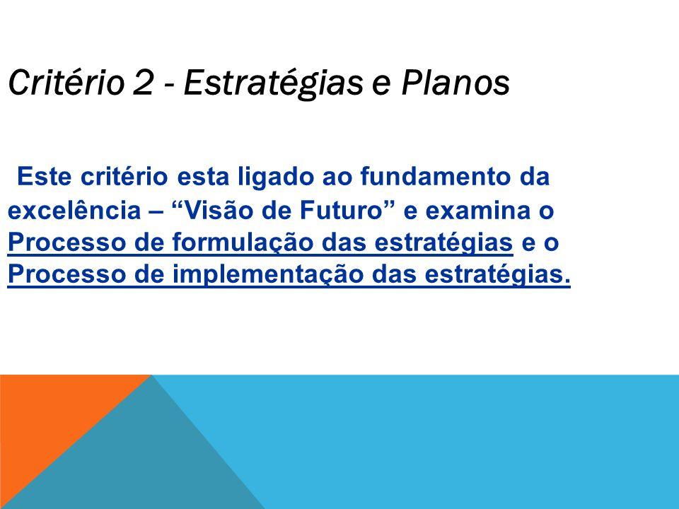 Critério 2 - Estratégias e Planos