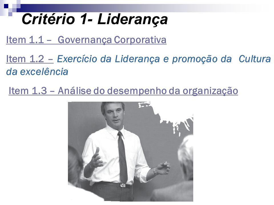 Critério 1- Liderança Item 1.1 – Governança Corporativa