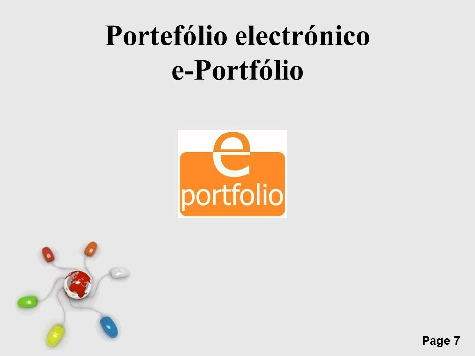 Portefólio electrónico e-Portfólio