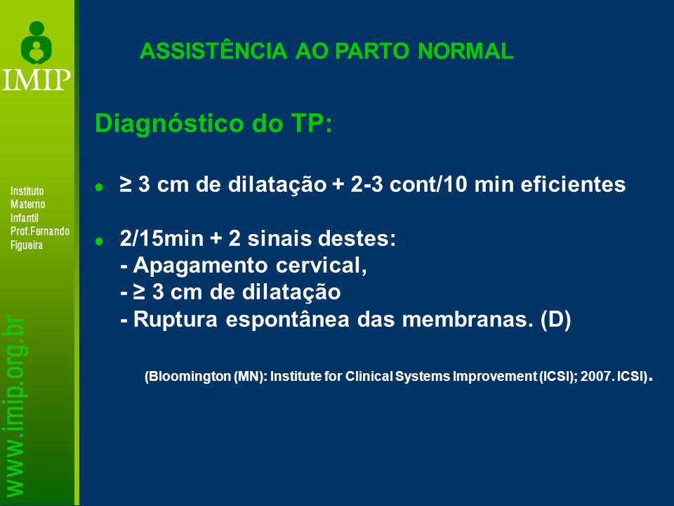 Diagnóstico do TP: ASSISTÊNCIA AO PARTO NORMAL