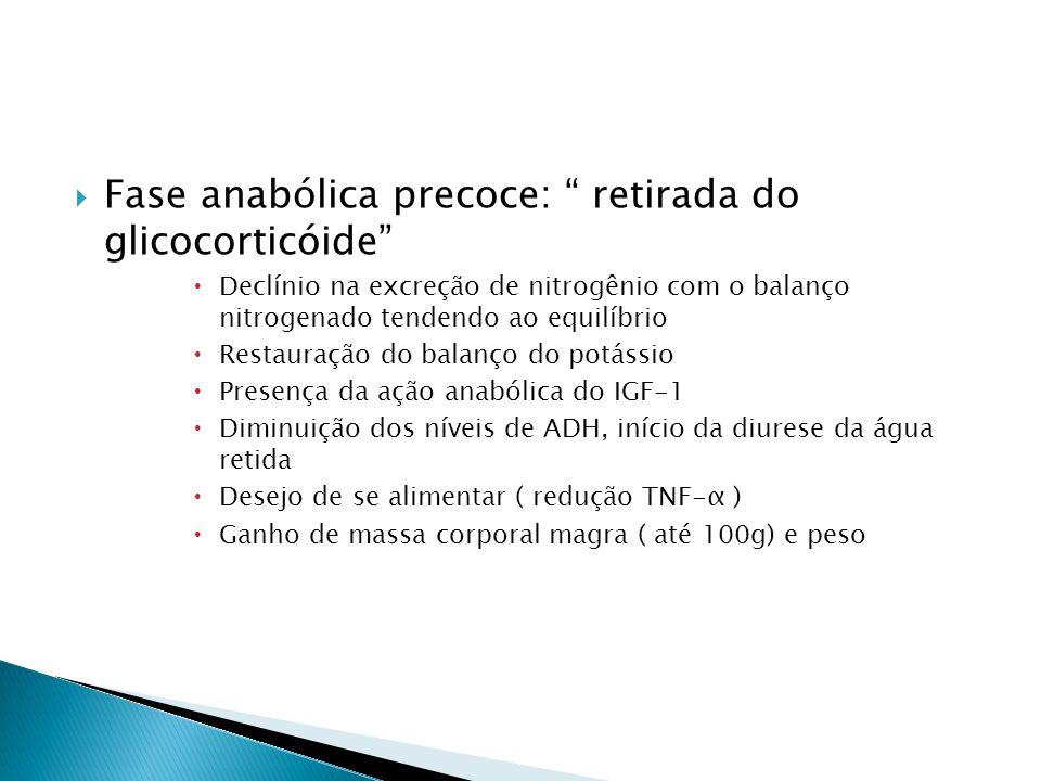 Fase anabólica precoce: retirada do glicocorticóide