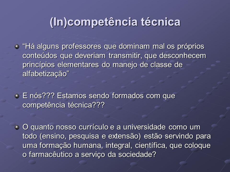 (In)competência técnica