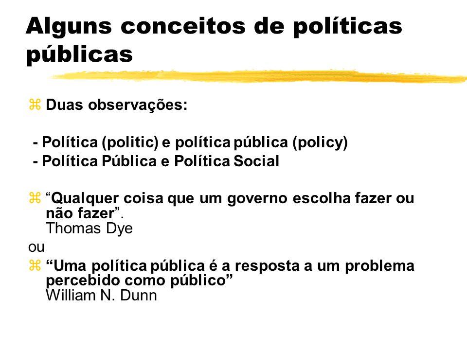 Alguns conceitos de políticas públicas