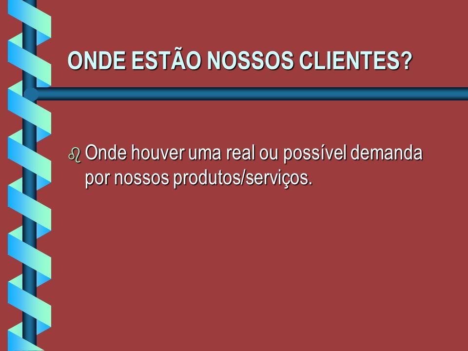 ONDE ESTÃO NOSSOS CLIENTES