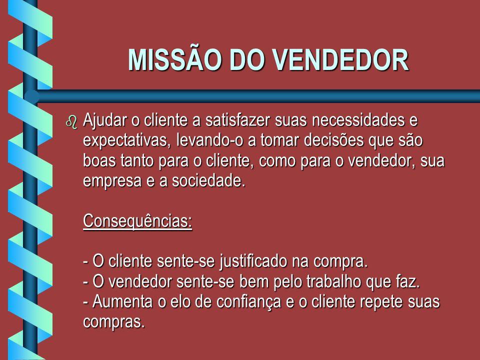 MISSÃO DO VENDEDOR