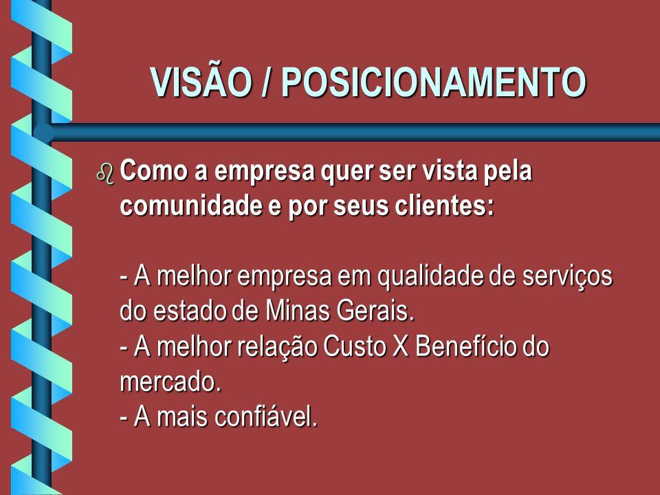 VISÃO / POSICIONAMENTO