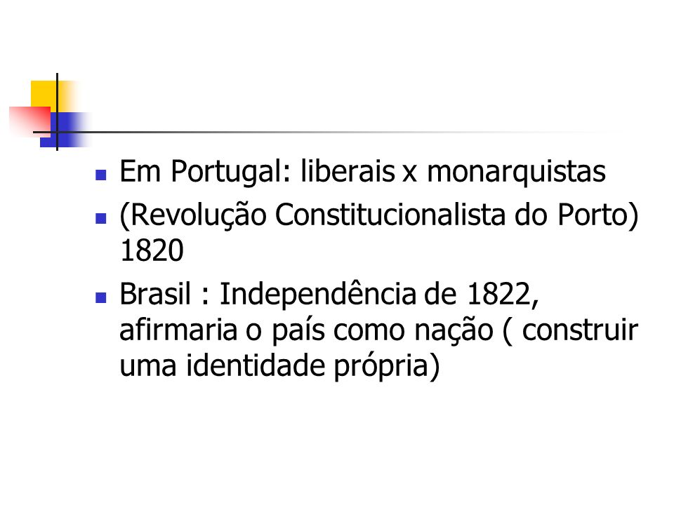 Em Portugal: liberais x monarquistas