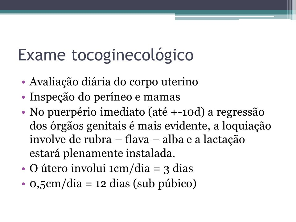 Exame tocoginecológico