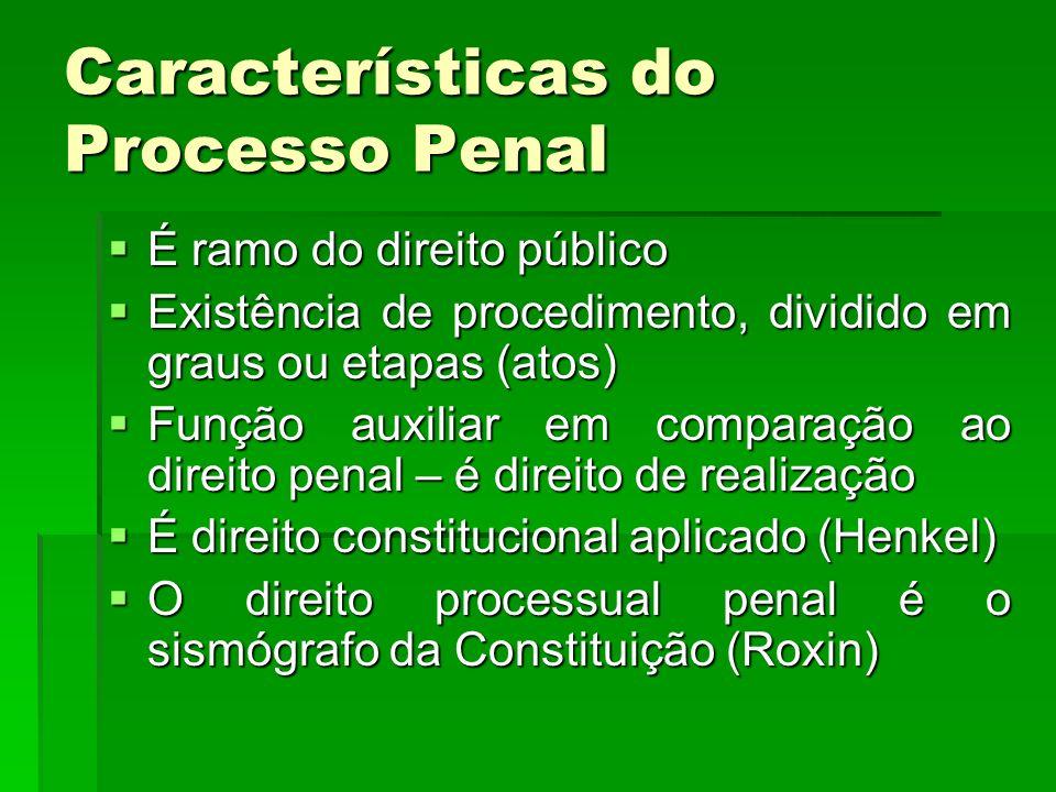 Características do Processo Penal