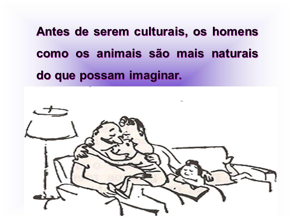Antes de serem culturais, os homens como os animais são mais naturais do que possam imaginar.