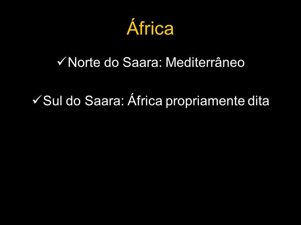 África Norte do Saara: Mediterrâneo