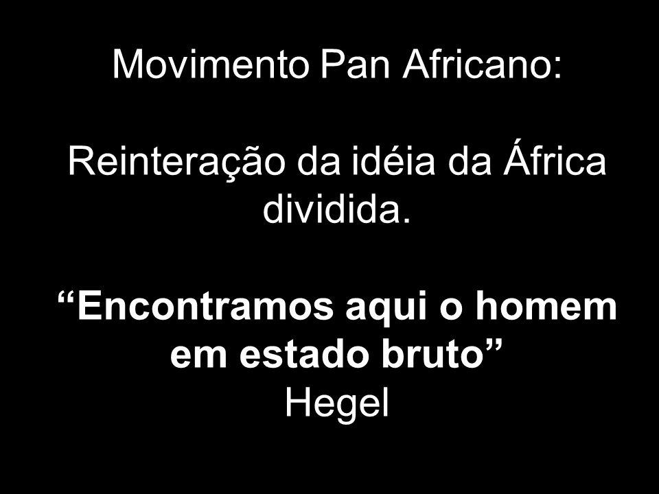 Movimento Pan Africano: Reinteração da idéia da África dividida