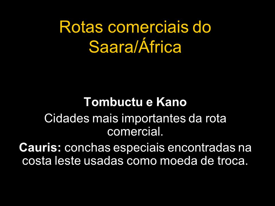 Rotas comerciais do Saara/África