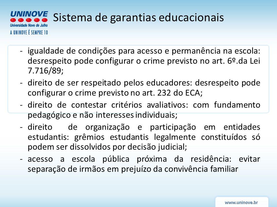 Sistema de garantias educacionais