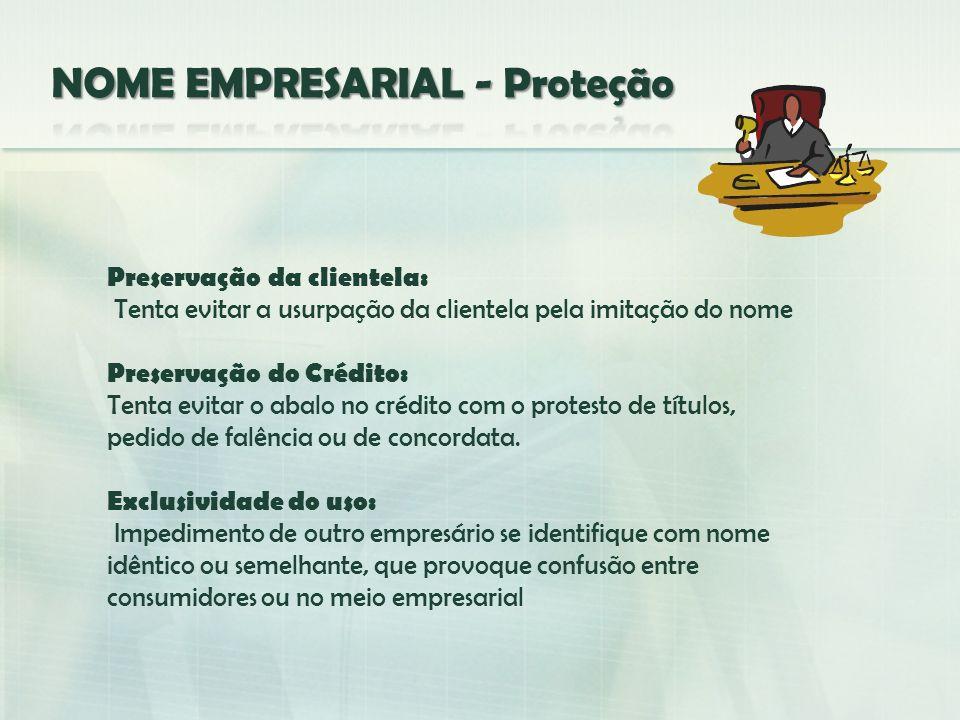 NOME EMPRESARIAL - Proteção