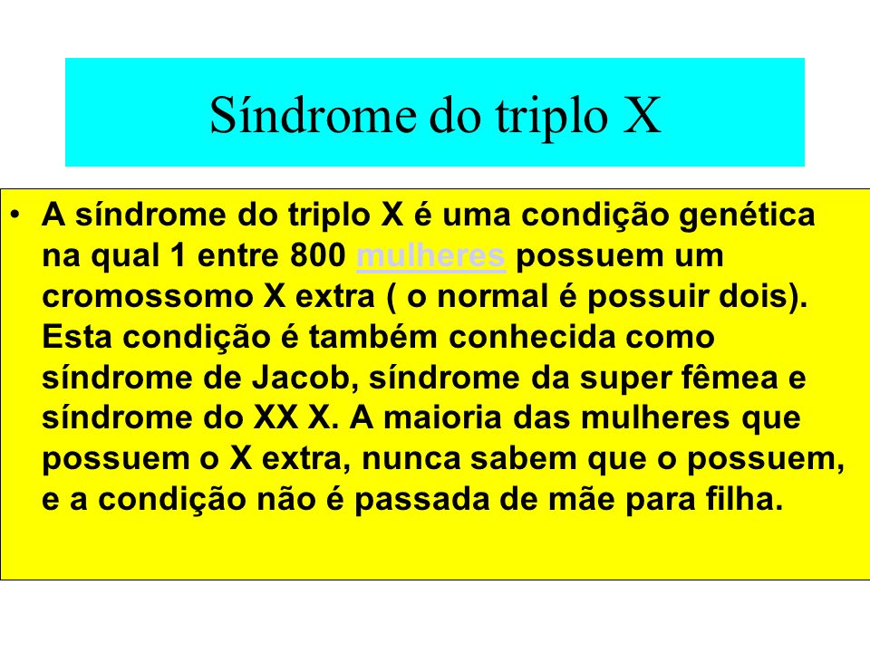 Síndrome do triplo X