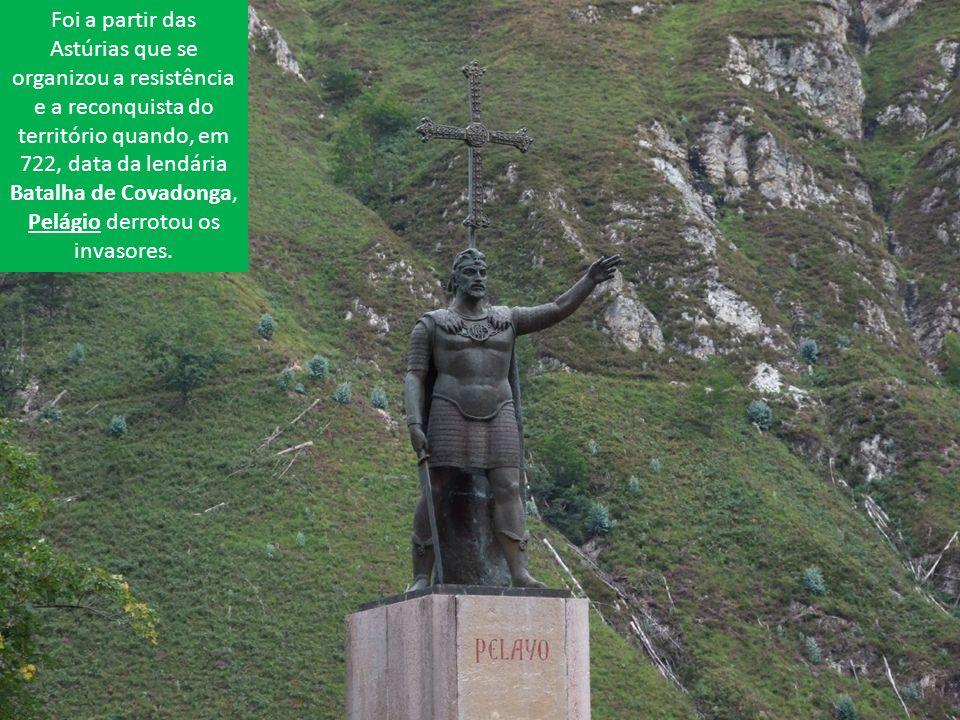 Foi a partir das Astúrias que se organizou a resistência e a reconquista do território quando, em 722, data da lendária Batalha de Covadonga, Pelágio derrotou os invasores.