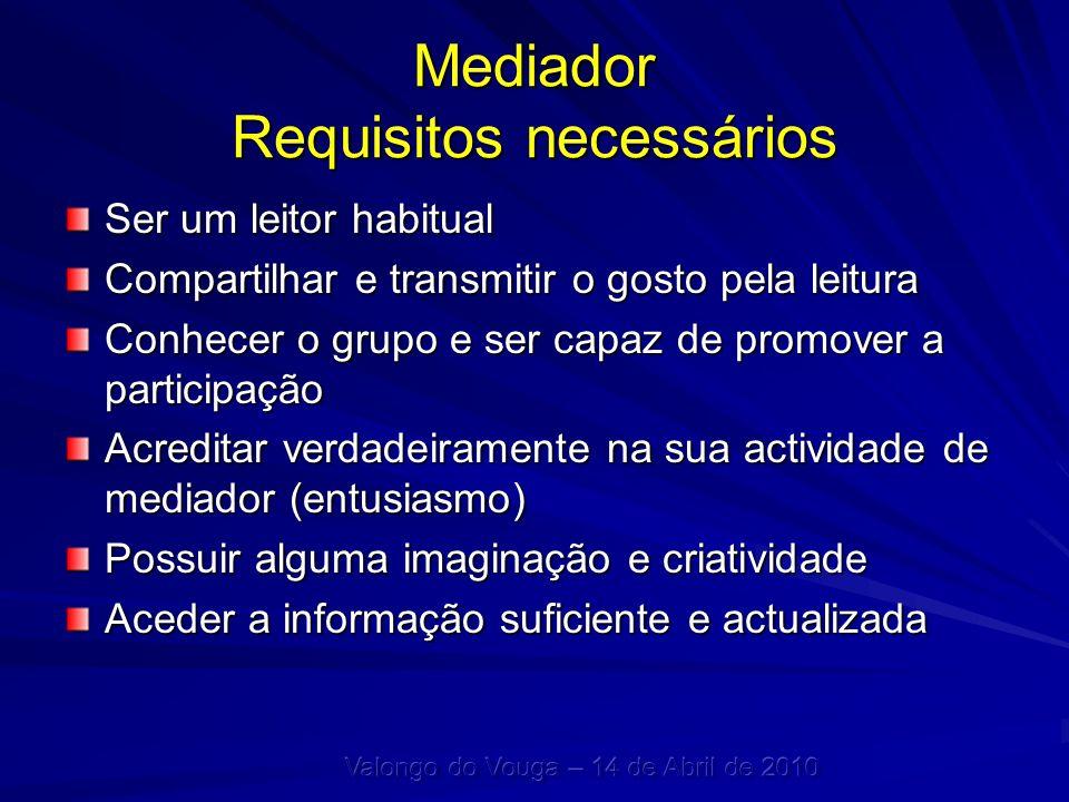 Mediador Requisitos necessários