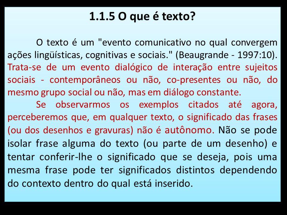1.1.5 O que é texto