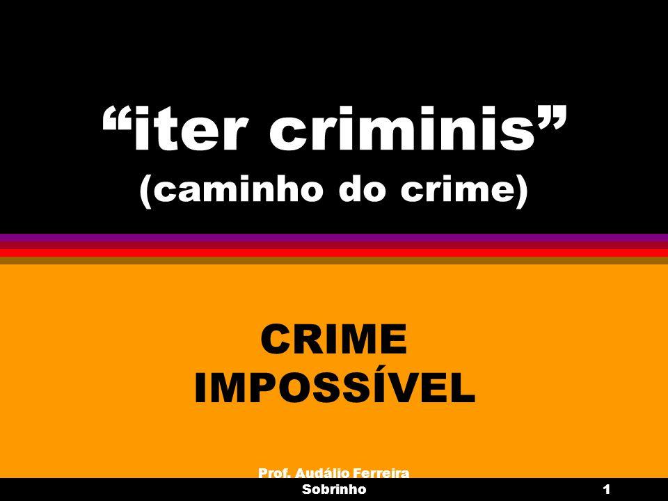 iter criminis (caminho do crime)