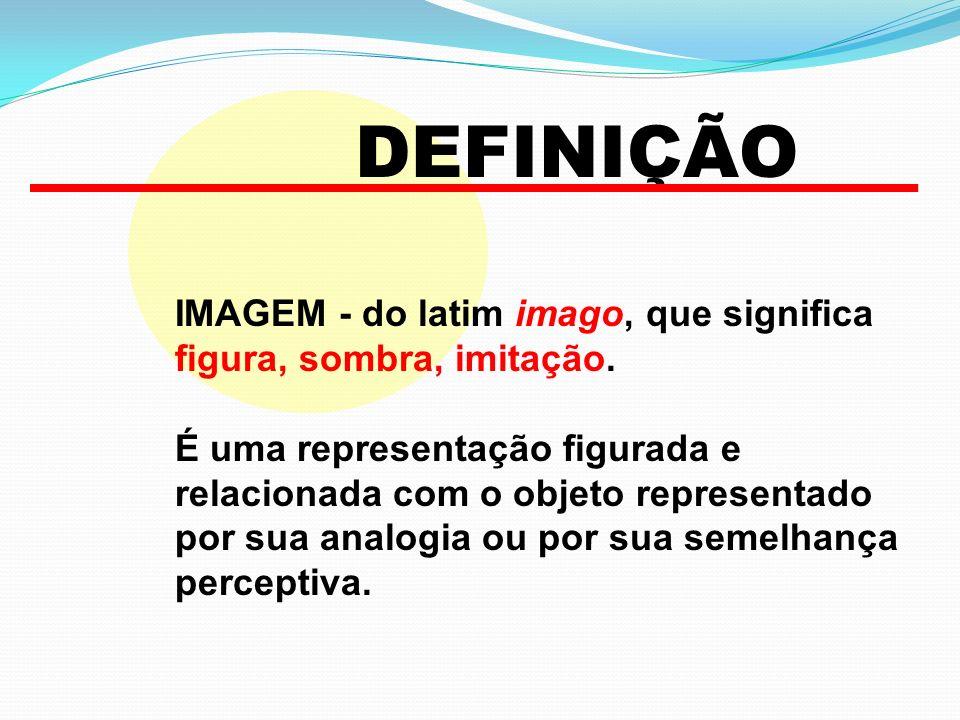 DEFINIÇÃO IMAGEM - do latim imago, que significa figura, sombra, imitação.