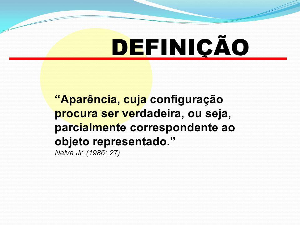 DEFINIÇÃO Aparência, cuja configuração procura ser verdadeira, ou seja, parcialmente correspondente ao objeto representado.