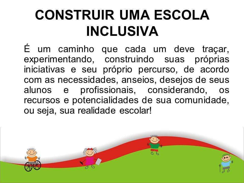 CONSTRUIR UMA ESCOLA INCLUSIVA