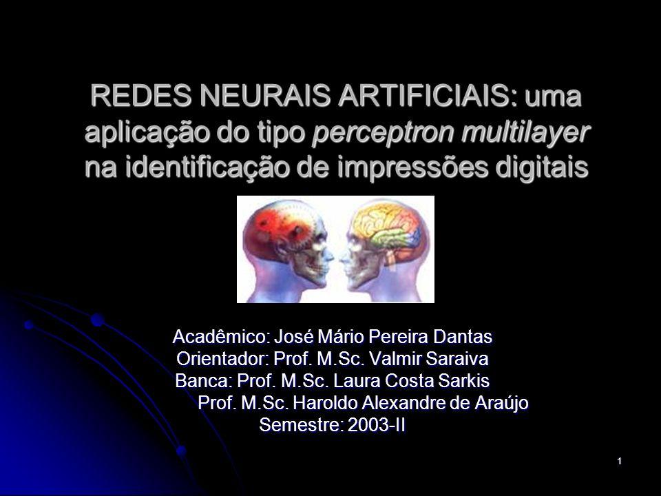REDES NEURAIS ARTIFICIAIS: uma aplicação do tipo perceptron multilayer na identificação de impressões digitais