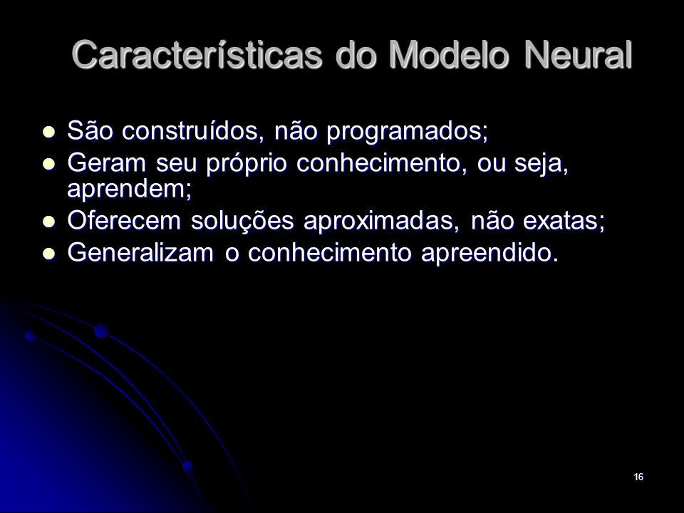 Características do Modelo Neural