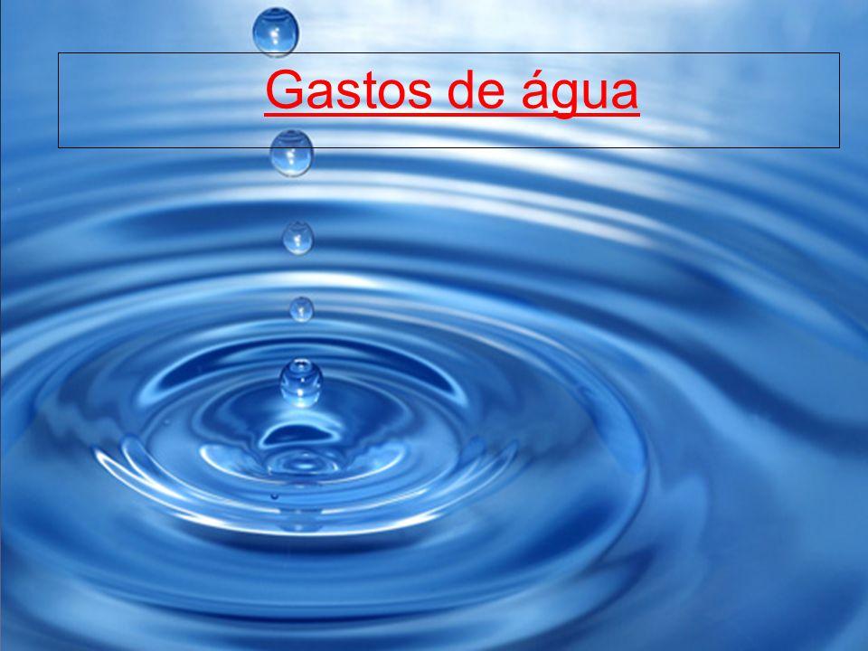 Gastos de água