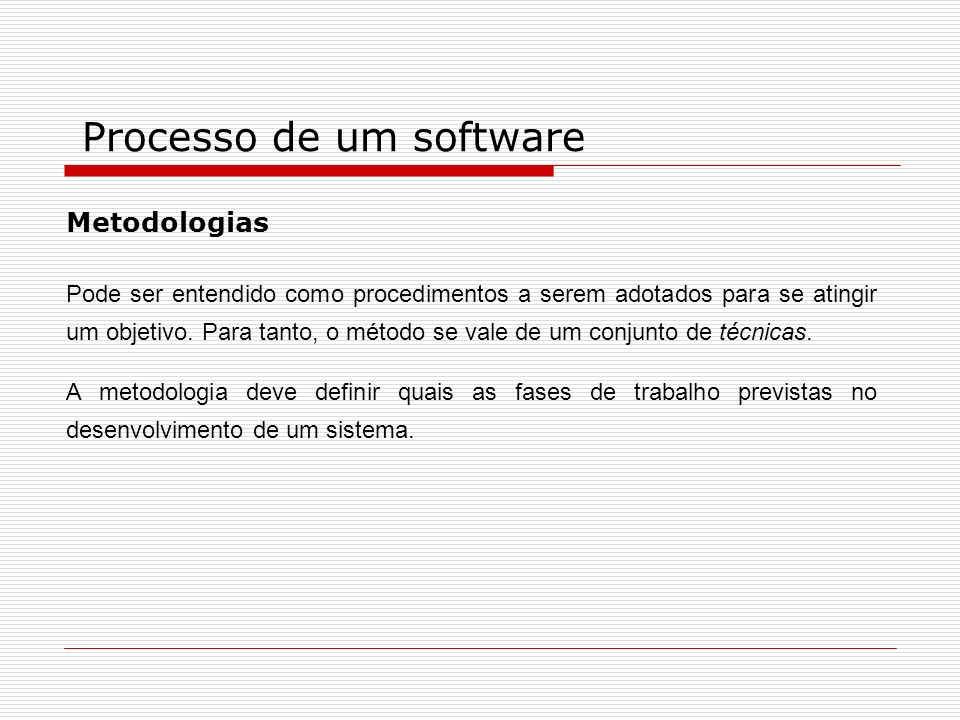Processo de um software