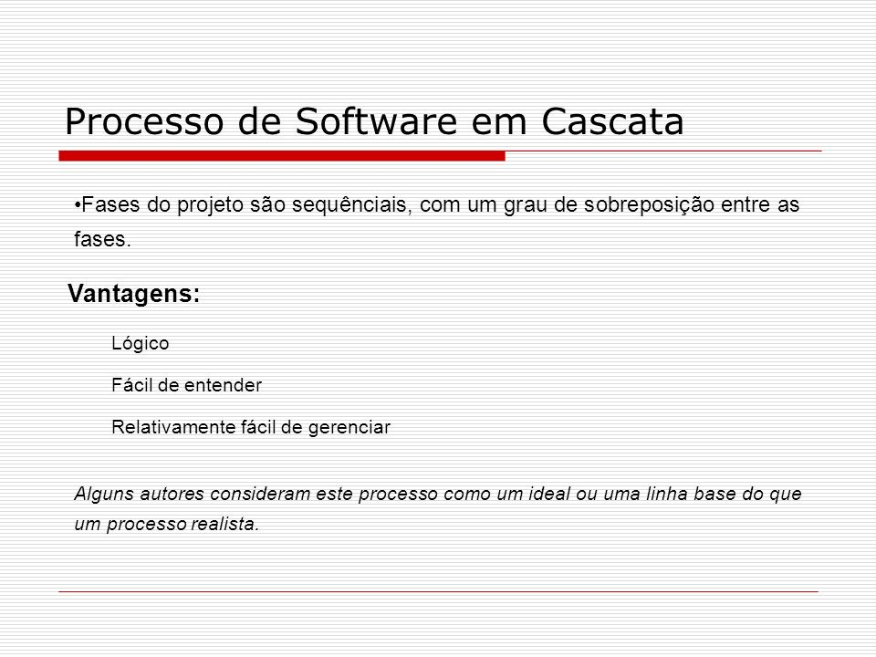 Processo de Software em Cascata