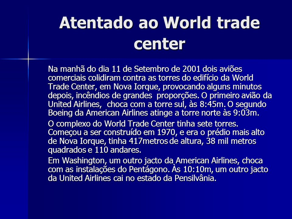 Atentado ao World trade center