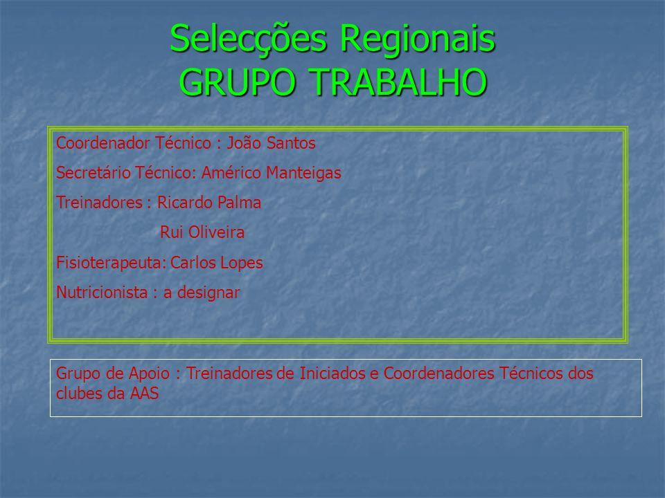 Selecções Regionais GRUPO TRABALHO