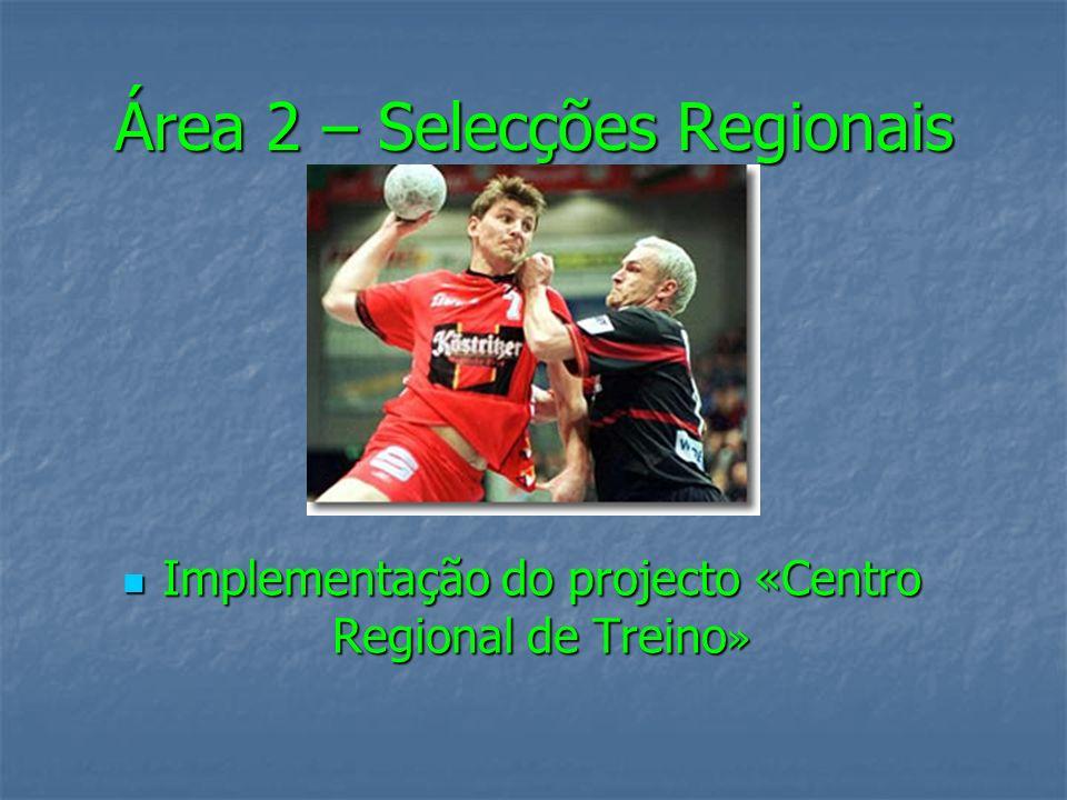 Área 2 – Selecções Regionais