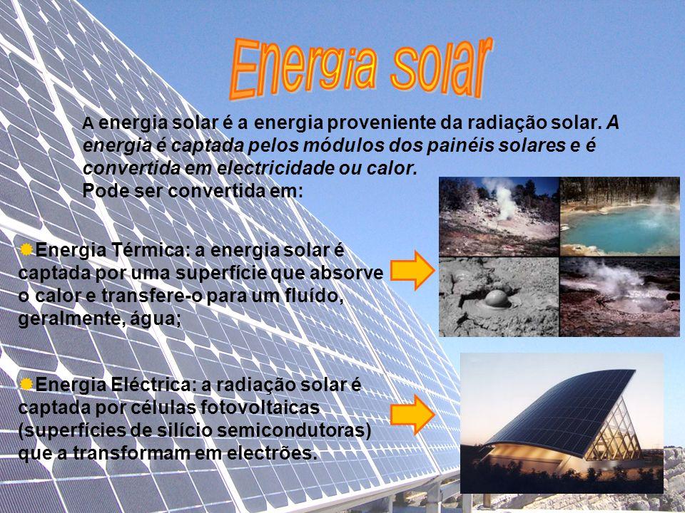 Energia Solar Pode ser convertida em: