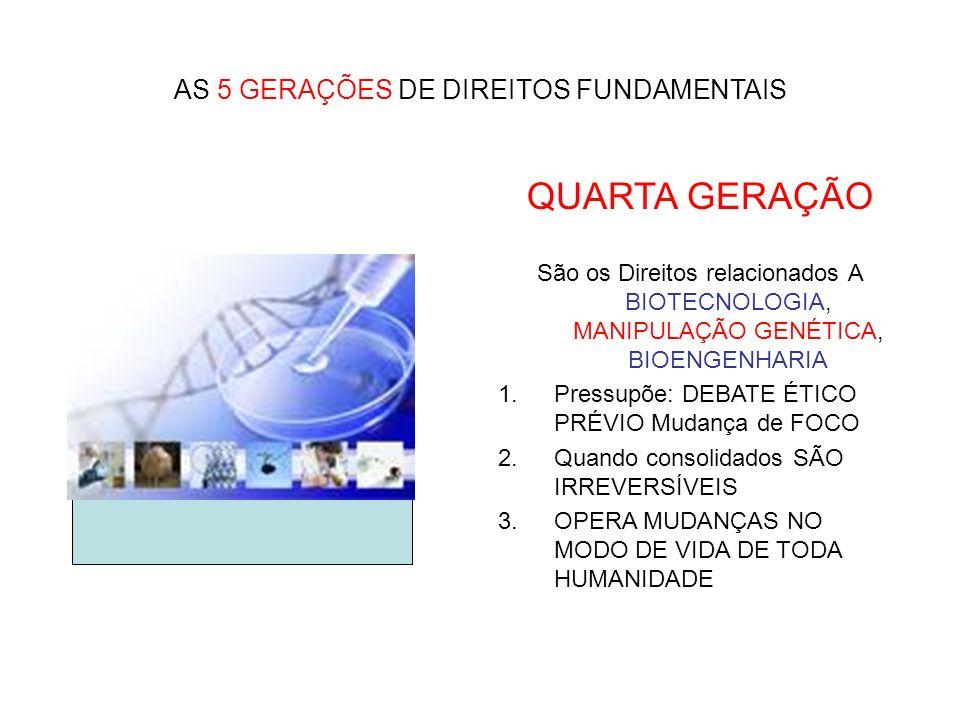 AS 5 GERAÇÕES DE DIREITOS FUNDAMENTAIS