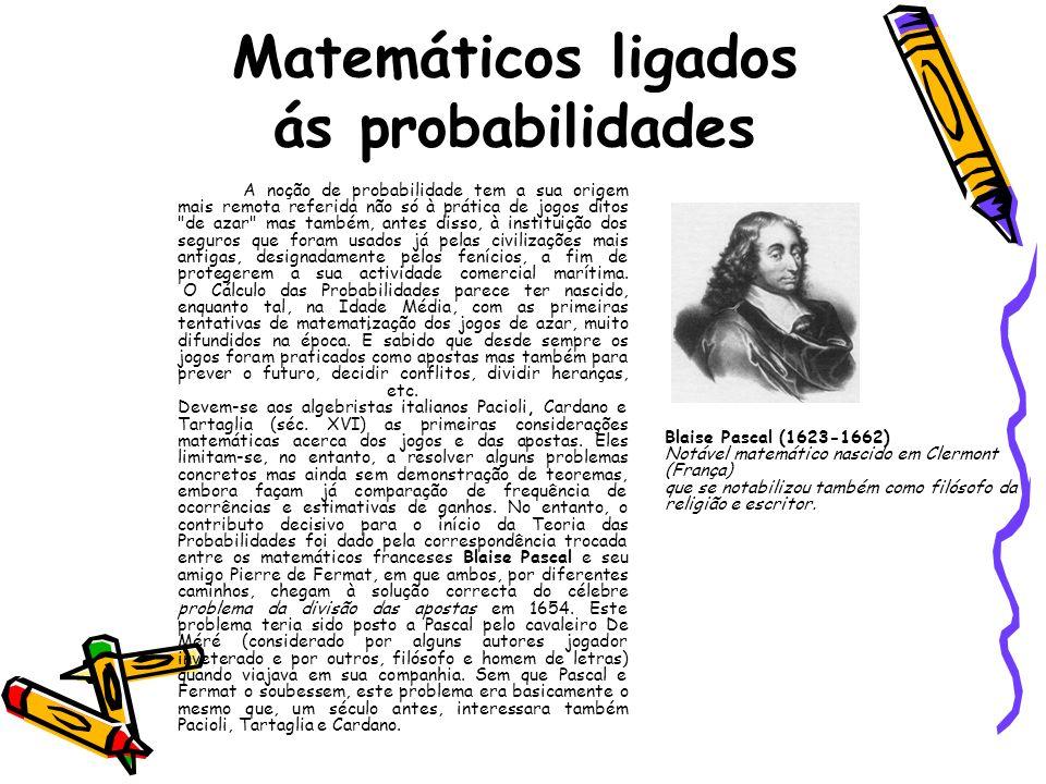Matemáticos ligados ás probabilidades