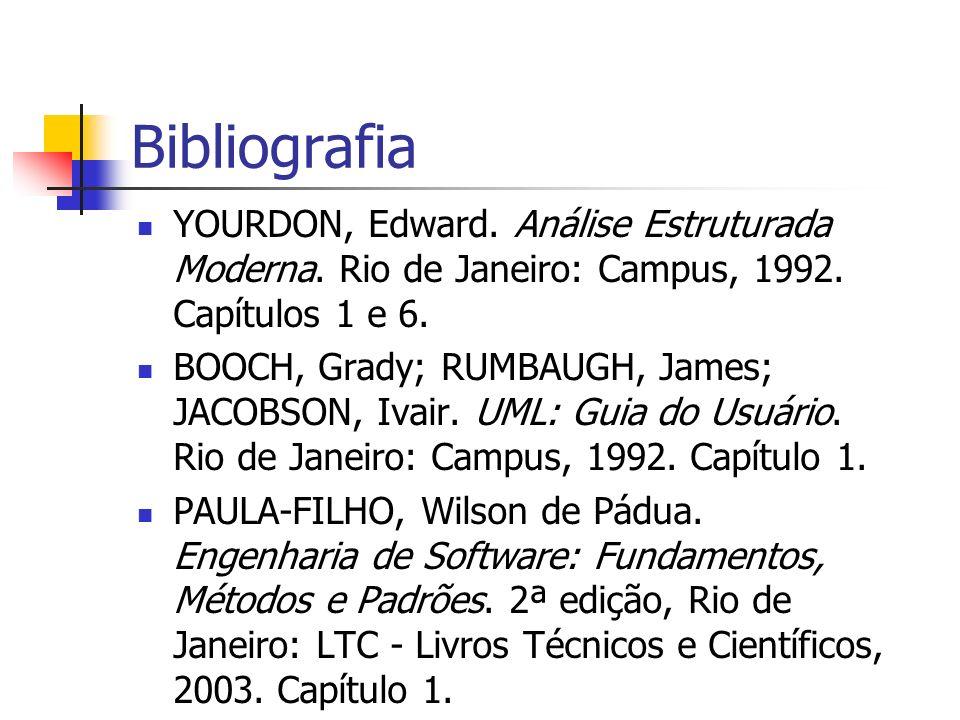 Bibliografia YOURDON, Edward. Análise Estruturada Moderna. Rio de Janeiro: Campus, 1992. Capítulos 1 e 6.